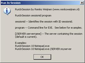 Run In Session Screenshot