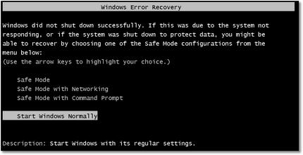 WindowsErrorRecovery