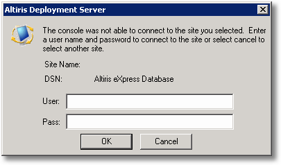 Altiris Deploymeny Server Unable to Connect
