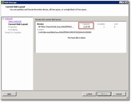 VMWare vSphere 4.1 Current Disk Layout