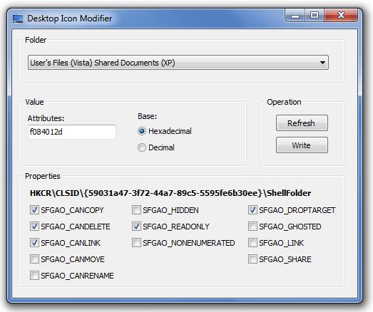 Desktop Icons, hide, show, prevent rename or delete | Remko