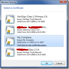 SelectCertificate