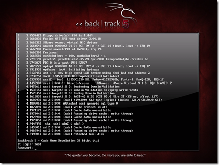 back track 5 logon screen