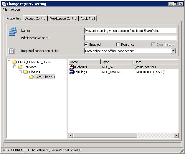 Session freeze when starting Excel | Remko Weijnen's Blog