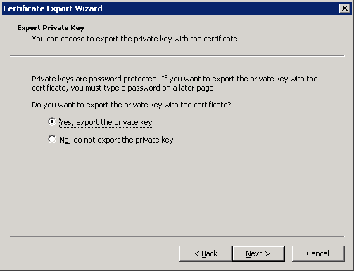 Trick to export private key from certificate request remko as you can see we now have the option to export the private key yelopaper Choice Image