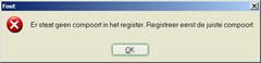 Er staat geen compoort in het register. Registreer eerste de juiste compoort