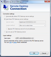 Remtoe Desktop Connection | RD Gateway Server Settings