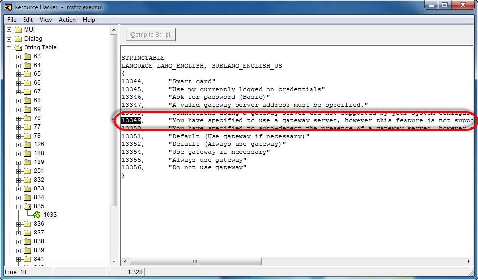 Remote Desktop Client crashes faulting application mstscexe
