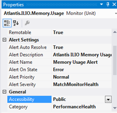 Visual Studio Authoring Extensions | Alert Properties