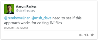 Aaron Parker | @stealthpuppy | @remkoweijnen @msh_dave need to see if this approach works for editing INI files