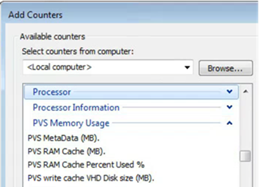 Performance Counters for Citrix PVS RAM Cache