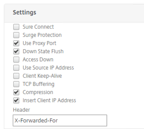 X Forwarded For Netscaler Service Group Settings
