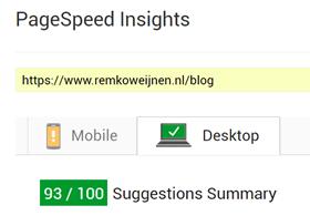 www.remkoweijnen.nl pagespeed 93/100