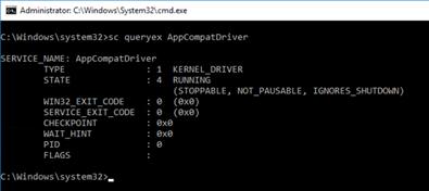 sc queryex AppCompatDriver