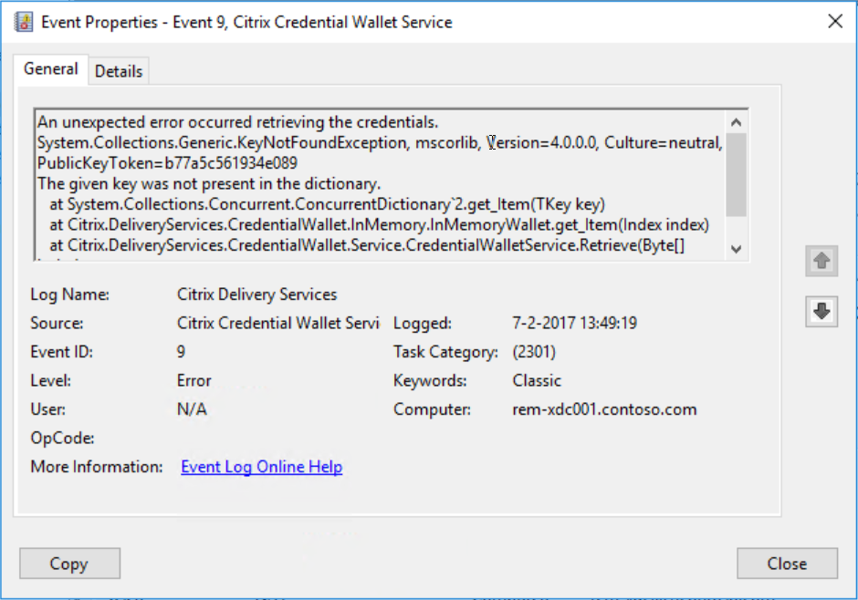 Citrix Receiver Unknown client error 1110 | Remko Weijnen's Blog
