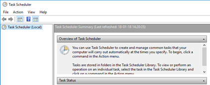 Task Scheduler (Local) | Empty