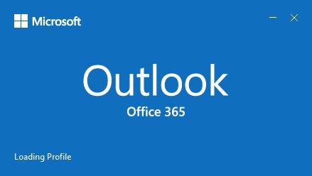"Outlook splash screen hung at ""Loading Profile"""